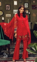 Embroidered Shirt Front Digital printed Back & Sleeves Dyed Linen Trouser Embroidered Chiffon Dupatta Embroidered Shirt Border