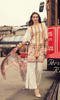Digital Printed Shirt  (100% Pima Cotton) Dyed Cambric Trouser Digital Printed Chiffon Dupatta Embroidered Hem Border