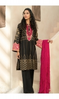 Pear Printed Shirt   Embroidered Neckline  Embroidered Border  Embroidered & Sequined Chiffon Dupatta