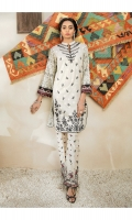 Embroidered Jacquard Shirt Front  Printed Shirt Back & Sleeves  Embroidered Trouser