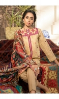 Embroidered Jacquard Shirt Front  Embroidered Jacquard Sleeves  Dyed Shirt Back   Digital Printed Blended Silk Dupatta