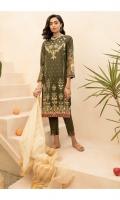 Embroidered Shirt Front  Digital Printed Shirt Back & Sleeves  Jacquard Dupatta