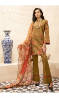 Embroidered Shirt Front  Embroidered Shirt Sleeves  Dyed Shirt Back  Digital Printed Blended Silk Dupatta