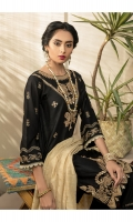 Embroidered Shirt Front with Mirror Work  Embroidered Sleeves  Dyed Shirt Back  Jacquard Dupatta
