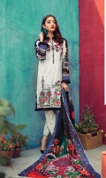 Printed Shirt  (100% Pima Cotton) Dyed Cambric Trouser 100% Pure Voil Dupatta (Superior American Cotton)  Embroidered on Shirt