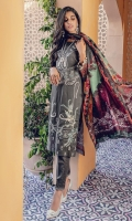 Embroidered Shirt Front Digital Printed Back and Sleeves Digital Printed Silk Dupatta Embroidered Lace Dyed Cambric Trouser