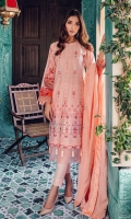 ChataPati Embroidered Shirt Front Panel Embroidered Side Panels Digital Printed Back and Sleeves Embroidered Chanderi Dupatta Dyed Cambric Trouser