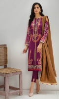 Embroidered Jacquard Shirt Front Digital Printed Shirt Back & Sleeves Khaadi Jacquard Dupatta Dyed Cambric Trouser