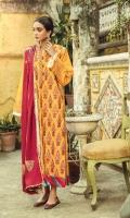 Embroidered Khaddar Front Block Printed Khaddar Sleeves & Back Digital Printed Shawl Dyed Khaddar Trouser