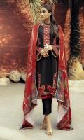 Embroidered Khaddar Front Embroidered Khaddar Sleeves Digital Printed Khaddar Back Digital Printed Shawl Dyed Khaddar Trouser