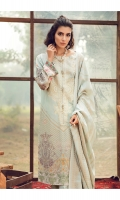 Printed & Embroidered Silk Karandi Shirt Front  Digital Printed Silk Karandi Shirt Back & Sleeves  Embroidered Silk Karandi Trouser  jacquard Silk Karandi Shawl