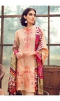 Printed & Embroidered Silk Karandi Shirt  Digital Printed Silk Karandi Shirt Back & Sleeves  Dyed Silk Karandi Trouser  Digital Printed Viscose Shawl