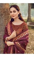 Embroidered Silk Karandi Shirt  Digital Printed Silk Karandi Shirt Back & Sleeves  Dyed Silk Karandi Trouser  Embroidered Shawl