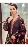 Embroidered Silk Karandi Shirt Front  Digital Printed Silk Karandi Shirt Back & Sleeves  Dyed Silk Karandi Trouser  Digital Printed Viscose Shawl