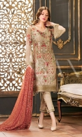 Three Embroidered Chiffon Suit