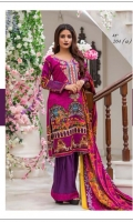 Three Piece Viscose Suit With kashmiri woolen shawls