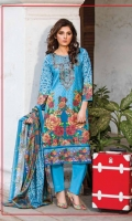 DHANAK EMBROIDERY SHIRT  PRINTED SHAWL DUPATTA  PLAIN TROUSER