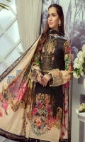 Digital Printed Lawn Shirt With Embroidered Neck Digital Printed Lawn Dupatta Dyed Cambric Trouser