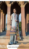 Digital Printed and Embroidered Lawn Shirt Digital Printed and Embroidered Fancy Pure Bamber Chiffon Dupatta Dyed Cambric Trouser