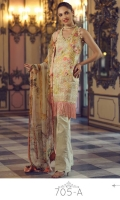 Digital Printed Shirt with Embroidered Front - 3.25 Yards Printed Chiffon Dupatta - 2.73 Yards Printed Trouser - 2.65 Yards