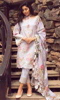 Digital Printed Shirt with Embroidered Front 3.25 Yards Printed Lawn Dupatta 2.73 Yards Dyed Trouser 2.65 Yards
