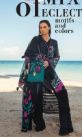 """Complete Shirt Digital Printed Lawn (3.30 Yards) Full Sequins Embroidered Organza Dupatta (2.65 Yards) Dyed Trouser (2.65 Yards) Shirt Front Embroidered Border on Tissue – 30"""" (01 Piece) Embroidered Shirt Motif on Tissue (02 Pieces) Embroidered Neck Lace on Organza – 40"""" (02 Pieces) Embroidered Trouser Border – 40"""" (01 Piece) Embroidered Lace on Lawn – 90"""" (02 Pieces)"""