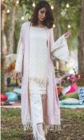 Embroidered Schiffli Pashmina Shirt 3.25 Yards Embroidered Pashmina Shawl 2.73 Yards Dyed Trouser 2.65 Yards