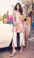 Printed Complete Shirt with Embroidered Front 3.25 Yards Printed Lawn Dupatta 2.73 Yards Printed Trouser 2.65 Yards
