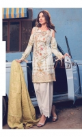 Printed Complete Shirt with Embroidered Front 3.25 Yards Dyed Cotton Jacquard Dupatta 2.73 Yards Dyed Trouser 2.65 Yards
