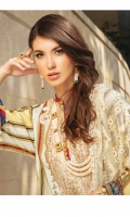Digital Printed Embroidered Linen Shirt 3.25 Yards Heavy Embroidered Pure Bamber Chiffon Dupatta 2.50 Yards Dyed Linen Trouser 2.65 Yards