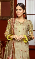 Embroidered Missouri Lawn Shirt Fancy Dupatta Dyed Trouser