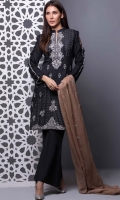 3 Meters Embroidered Lawn Shirt  2.5 Meters Chiffon Embroidered Dupatta  2.5 Meters Trouser
