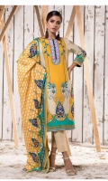 Three pcs printed cotton suit