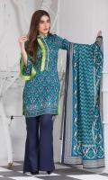 3 Meters Printed Lawn Shirt  2.5 Meters Lawn Dupatta  2.5 Meters Trouser