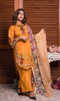 3 pcs unstitched printed suit Printed Lawn Shirt Printed Lawn Dupatta Dyed Trouser