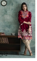 Embroidered Velvet Unstitched Kurti