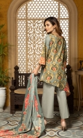 Shirt Printed Lawn with Embroidery Duppatta Printed Lawn Trouser High Quality Dyed