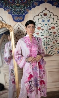 Shirt: Digitally Printed Embroidered Viscose  Dupatta: Digitally Printed Embroidered  Chiffon  Trouser:  Dyed Premium