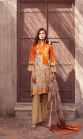 Shirt: Premium Digitally Printed Embroidered High Quality Luxury Lawn Dupatta: Digitally Printed Fancy Orgnaza  Trouser: High Quality Dyed