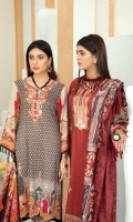 High Quality Digital Printed Shirt with Premium Embroidered Shawl Dupatta and High Quality Dyed Trouser