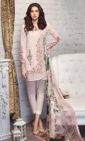 Shirt: Lawn (Machine Embroidered) Dupatta: Chiffon (Digital Print) 2.5 Meter Trouser: Cotton 2.25 Meter