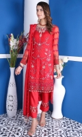 CHIFFON WITH HAND MADE, DUPPATA 2.5 MTR CHIFFON EMBROIDERED & 2.5 MTR RAW SILK TROUSER