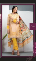 Three pcs embroidered lawn suit