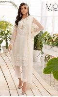 Embroidered Chiffon Shirt Chiffon Dupatta Dye Bottom