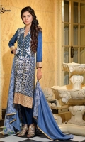 Embroidered 3 pcs linen suit