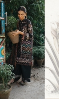 Cross Stitch Embroidered Front Digital Printed Back Cross Stitch Embroidered Sleeves Hand Weaved Wool Shawl Dyed Trouser Embroidered Lace for Front and Sleeves