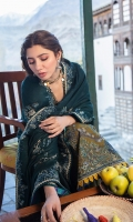 Embroidered Shawl 2.50m Embroidered shawl Pallu borders 2PCS Embroidered Shirt/Front Khaddar 1.25m Dyed shirt Back Khaddar 1.25m Embroidered Sleeves Khaddar 1.25m Embroidered back Patch Organza 1PC Embroidered Hem border Organza 1.5m Embroidered Cuff border Organza 1.25m Embroidered Trouser border Organza 1.25m Dyed Trouser Khaddar 2.50m