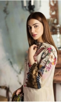 PRINT EMBROIDERED FRONT PRINTED BACK AND SLEEVES EMBROIDERED BORDER FOR FRONT CHIFFON PRINTED DUPATTA PLAIN TROUSER
