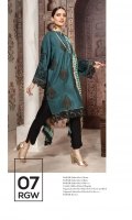 Shirt: - Embroidered Dull Silk Dupatta / Shawl: - Printed Pure Crinkle Chiffon Dupatta Trouser: - Dyed Dull Silk with Embroidery