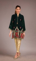 Embroidered Velvet Unstitch Kurti